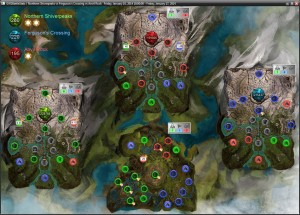 GW2Battlestats Guildwars2 WvW Map with Guild Emblems,Score,PPT,Bloodlust and Activity